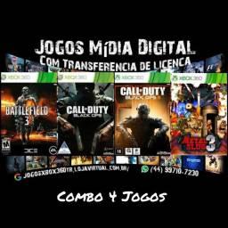 Jogos Xbox 360 Mídia digital