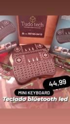 Mini teclado Led bluetooth keyboard