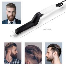Pente Escova Chapinha Elétrica Cabelo Barba Bivolt Alisador