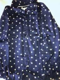 Camisa de estrelas Zara tamanho 4/5 anos