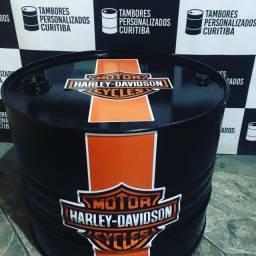 Tambor Personalizado Mesa de Centro Harley