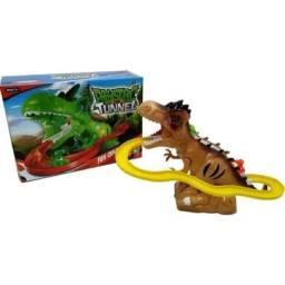 Pista De Dinossauros Com Som E Luz Túnel Escorregador Dino
