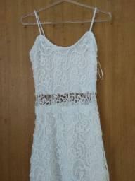 Seminovo - Vestido Branco Bordado - Tam P