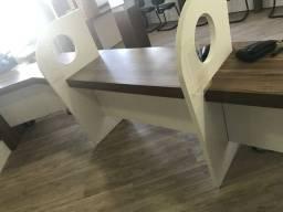 Mesas/baias 3 posições escritório atendimento
