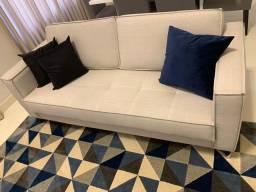 Sofá em linho (sala de estar/living)
