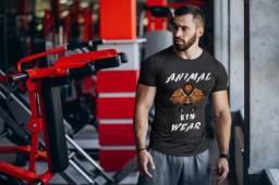 Camiseta Animal Gym Lion Masculina Original Nova - Tamanhos G1-G2-G3-G4