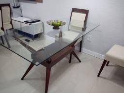 Mesa Retangular de vidro sem cadeiras
