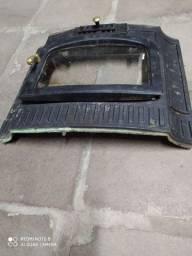 Porta de lareira de ferro fundido com vidro