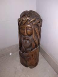 Escultura em madeira 45x20 - Jesus Cristo