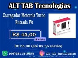 Carregador Motorola Turbo - Entrada Micro USB V8 (novo-lacrado)