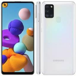 Samsung a 21s 1 mes de uso (trincadinho pequeno)