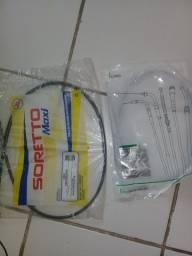 1 cabo de embreagem e 1 cabo de acelerador cg fan ks 2010