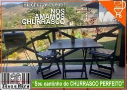 Título do anúncio: Mesa 70x70 Bar com 4 Cadeiras em Madeira Maciça - Certificado Inmetro -Direto da Fábrica