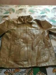 jaqueta de couro legítimo nova