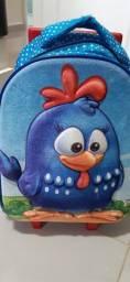 mochila com.rodinha galinha pintadinha