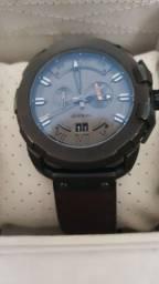 Título do anúncio: relógio diesel original em couro marrom
