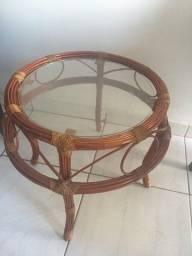 Conjunto de 4 cadeiras giratórias de bambu