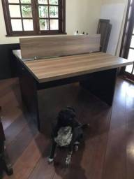 Mesa plataforma dupla escritório