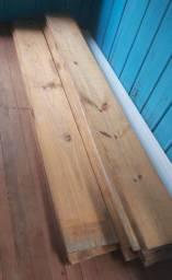 Lote com 12 tábuas de madeira de pinheiro - beneficiadas