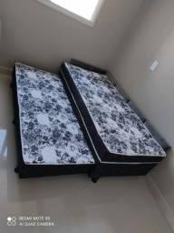 cama com auxilar de 10cm de espuma