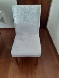 Capa Para Cadeira de Jantar - Branca - Tecido Plush