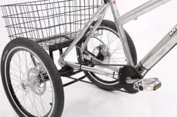 Kit Triciclo para Bicicleta C/ Freio Disco, Rodas e Pneus