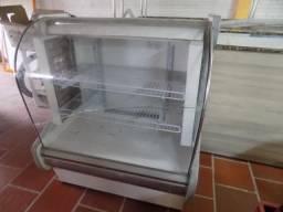 Balcão refrigerado vidro curvo