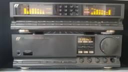 Sansui amplificador integrado e equalizador