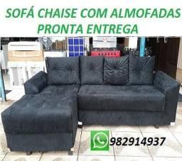 Compre e Receba No Mesmo Dia Lindo Sofa Chaise+3 Lugares Com Almofadas Apenas 799,00