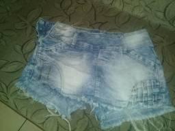 Desapego de short saia jeans strech