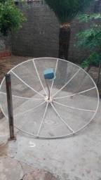 Antena parabólica + receptor de sinal Elsys, usado