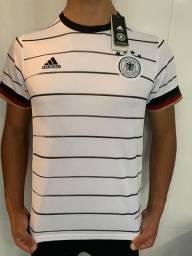 Camisa Alemanha - Uniforme Masculino - Branco - Envio por Sedex