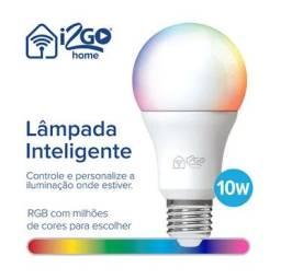 Echo dot 3 geração + lâmpada inteligente Lâmpada Smart Lamp I2GO Home Wi-Fi LED 10W