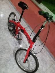 Vendo ou troco bike dobrável de aço muito conservada