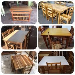 Jogos de mesas madeira