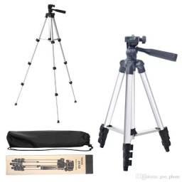 Tripé para Câmeras, Smartphones e Telescópio - Regulagem para Até 1,02 metros