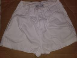 Short branco usado poucas vezes