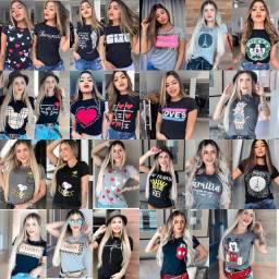 Kit 10 camisetas feminina.