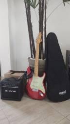 Kit Guitarra, amplificador e acessórios novo na caixa, nunca usado