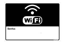 Título do anúncio: Placa 16X23 Senhaq Wi Fi 150AR Alumínio Preto