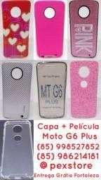 Case Protetora + Película Vidro Motorola com Entrega Grátis