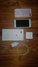Iphone 8 plus 64gb rosé. Garantia até final de novembro.