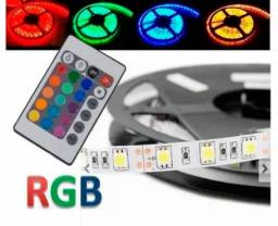 Fita Led Rgb 5050 + Controle - 5 metros 300 leds
