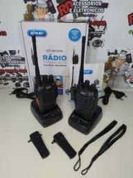 PAR RADIO COMUNICADOR WALK TALK 16 CANAIS KNUP RECARREGÁVEL