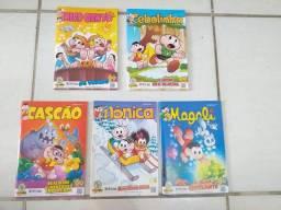 Kit com 20 revistas da Turma da Mônica