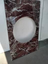 Balcão de vidro temperado rajado