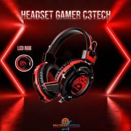 Fone de Ouvido Headset Gamer Led RGB C3Tech USB P2