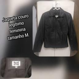 Jaqueta couro legítimo feminina M ( troco )