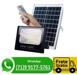 Refletor Holofote Led 40w + Placa Solar Bateria Recarregável Luminaria (NOVO)