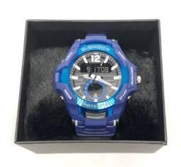 Relógio Casio G-shock GravityMaster Pulseira e Caixa Azul Com Garantia Produto Novo